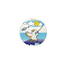 dodo is fishing Mini Button