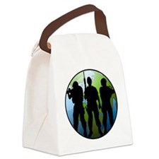 Airsoft Social Global Men Canvas Lunch Bag