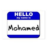 hello my name is mohamed  Postcards (Package of 8)