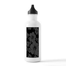 Black Hibiscus Hawaiia Water Bottle