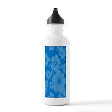 Blue Hibiscus Hawaiian Water Bottle