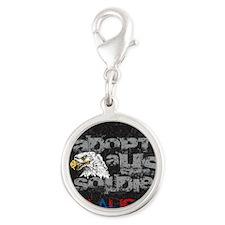New Eagle Design Silver Round Charm