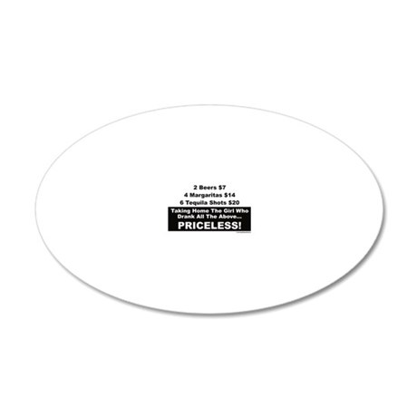Taking home the girl who dra 20x12 Oval Wall Decal