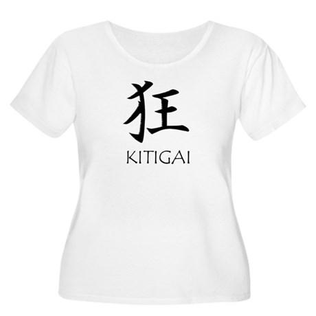 Kitigai Women's Plus Size Scoop Neck T-Shirt