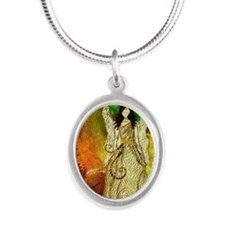 Angel Of Light Silver Oval Necklace