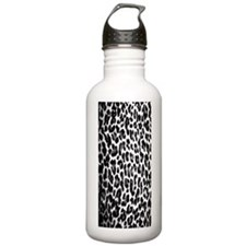 Black and White Leopar Water Bottle