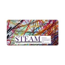 STEAM Art Education Aluminum License Plate