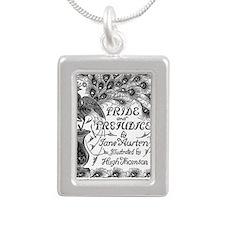 Pride and Prejudice Silver Portrait Necklace