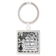 Pride and Prejudice Square Keychain