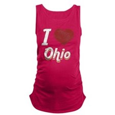 I Love Ohio (Vintage) Maternity Tank Top