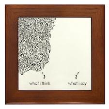 What I Think What I Say Framed Tile