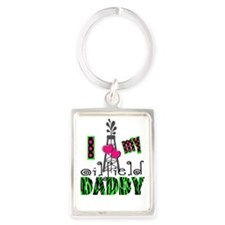 I Love my oilfield daddy Portrait Keychain