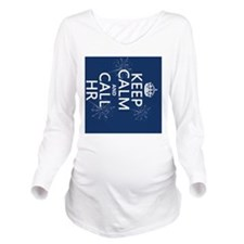 Keep Calm and Call H Long Sleeve Maternity T-Shirt
