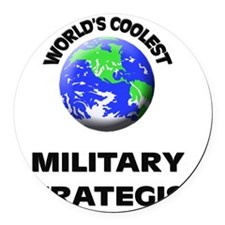 World's Coolest Military Strategi Round Car Magnet