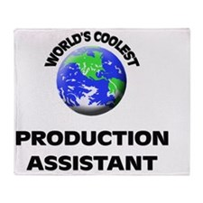 World's Coolest Production Assistant Throw Blanket