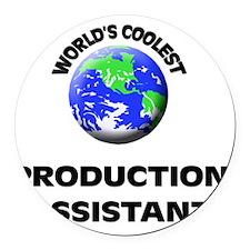 World's Coolest Production Assist Round Car Magnet