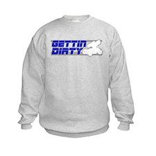 Gettin Dirty Blue/Grey Sweatshirt