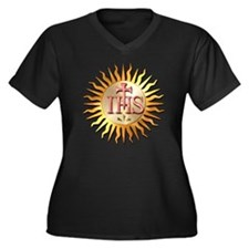 Jesuits Seal Women's Plus Size Dark V-Neck T-Shirt