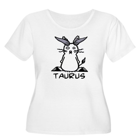 Taurus Women's Plus Size Scoop Neck T-Shirt