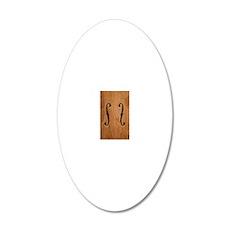 f-hole-713-PHN3 20x12 Oval Wall Decal