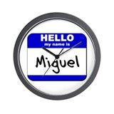 hello my name is miguel  Wall Clock