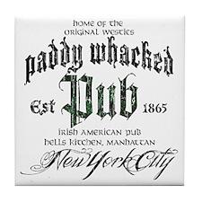 Paddy Whacked Pub Tile Coaster