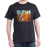 Van Gogh's Room & Basset Dark T-Shirt