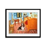 Van Gogh's Room & Basset Framed Panel Print