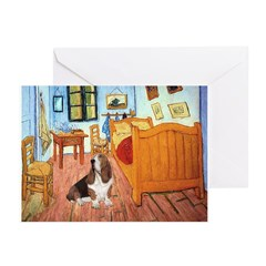 Van Gogh's Room & Basset Greeting Cards (Pk of 10)