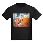 Van Gogh's Room & Basset Kids Dark T-Shirt