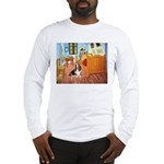 Van Gogh's Room & Basset Long Sleeve T-Shirt
