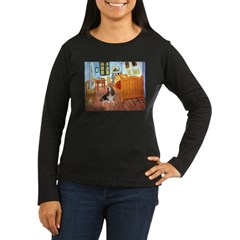 Van Gogh's Room & Basset Women's Long Sleeve Dark