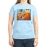 Van Gogh's Room & Basset Women's Light T-Shirt