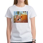 Van Gogh's Room & Basset Women's T-Shirt