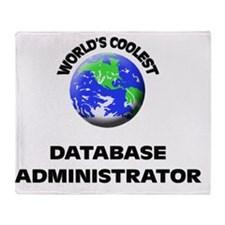 World's Coolest Database Administrat Throw Blanket