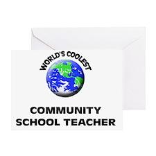 World's Coolest Community School Tea Greeting Card