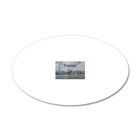 Toronto, Ontario Canada Magn 20x12 Oval Wall Decal