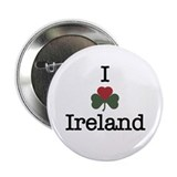 I (Heart/Shamrock) Ireland Button