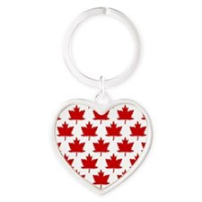 Leaves Heart Keychain