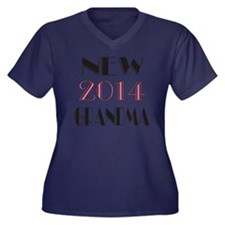 2014 New Gra Women's Plus Size Dark V-Neck T-Shirt