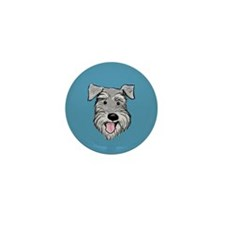 Fuzzy Face Schnauzer Mini Button (100 pack)