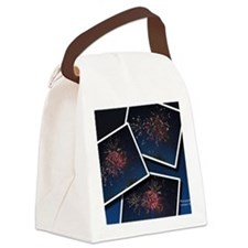Fireworks Calendar Cover Canvas Lunch Bag