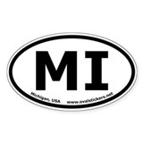 Michigan, USA Oval Euro Style Decal