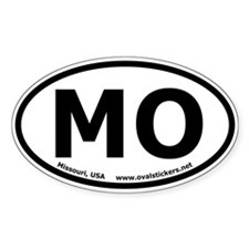 Missouri, USA Oval Bumper Sticker (Euro Style)
