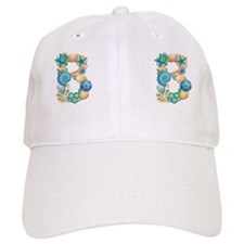 BEACH THEME INITIAL B Baseball Cap