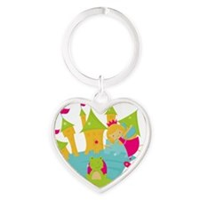 Blond Frog Princess Heart Keychain