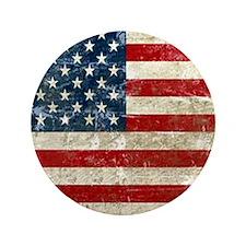 "USA Patriotic 3.5"" Button"