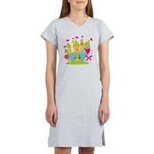 Blond Frog Princess Women's Nightshirt