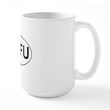STFU Oval Sticker 3x5 Mug