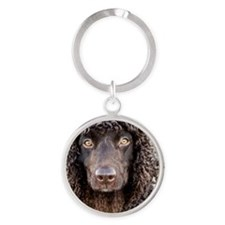 Irish Water Spaniel Round Keychain